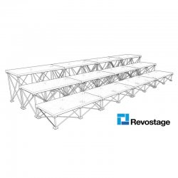 Revostage Choir Stage 4 m Width, 3 Tiers, 1 x 0,52 m decks, DiamondDek